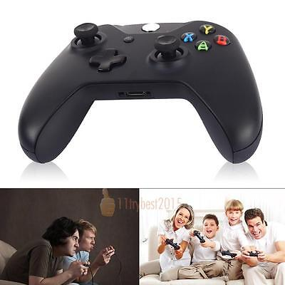 Black Genuine Microsoft for Xbox One Wireless Controller Gamepad  Game PC Gaming