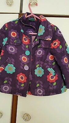 Jacket 2 Years Girls Purple Corderoy Big Flowers *pumpkin Patch*♡♡♡