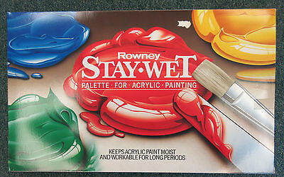 Daler Rowney Stay Wet Acrylic Paint Mixing Painting Palette - large