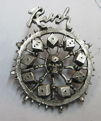 Rush Vintage Metal Lapel Pin New From Late 90's Heavy Metal
