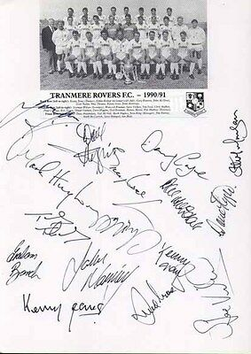 Tranmere Rovers FC - Signed Team Sheet - COA (10888)