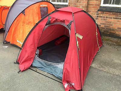 Eurohike Tamar 2 Man Person Berth Hh 2000 Festival Camping Dome Red Tent