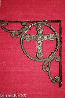 (6)Vintage Style, Old World,cross,rustic,shelf Brackets, Corbels,cast Iron B-22