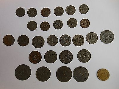 Collection of Royal Arsenal Coop Tokens