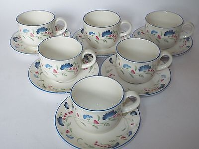 6 Royal Doulton Expressions WINDERMERE Tea Cups and Saucers