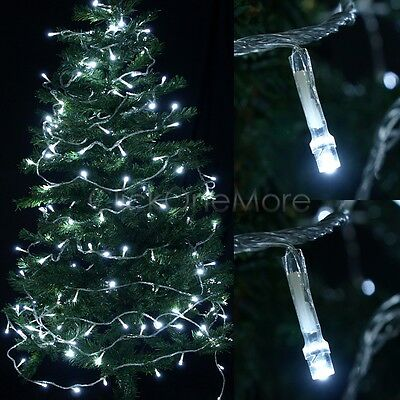 200 LED Day White String Fairy Light Wedding Party Home Xmas Tree Decor 20m