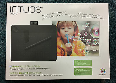 Wacom Small Intuos Photo Pen & Touch Graphic Tablet in Black