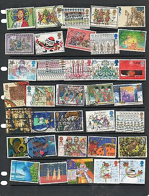 Sheet of GB Christmas stamps ( used) lot 3