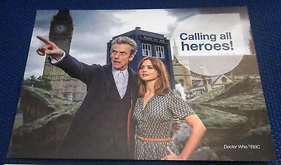 Doctor Who Peter Capaldi promotional postcard, new