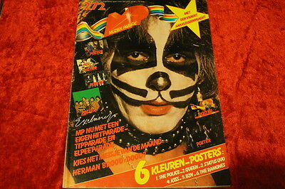 Mp April 1980 Kiss (Peter Criss On Cover) Awesome Rare Dutch Music Magazine!