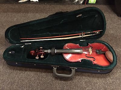 1/2 Size Violin Outfit Labelled Stentor Student I   With Bow & Case