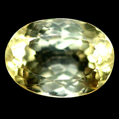 3.17 Ct Aaa! Natural! Yellow Madagascar Scapolite Oval
