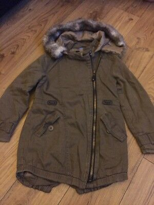 Girls River Island Parka Age 5