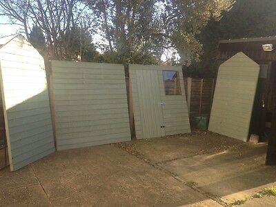 Wooden garden shed, 6x4 , only 2 months old