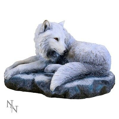 Guardian of the North Figurine - Lisa Parker - Fantasy Wolf Statue 19.5cm