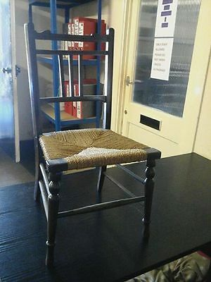 Chair: Solid wood framed antique small chair