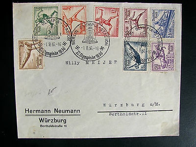 Germany 1936 Olympic full set cover
