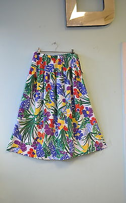 Vintage Womens retro tropical skirt size L