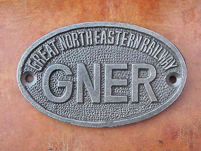 Vintage Style GNER Iron Plaque Sign Totem rail railway industrial train notice