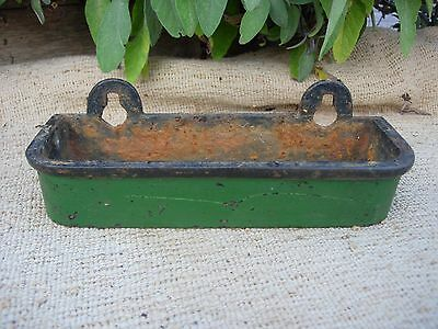 Small Antique  Cast Iron Trough Bird Feeder /   Garden Planter  (982)