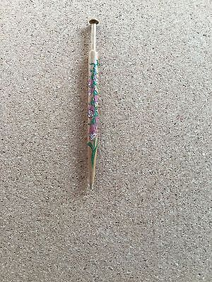 Florally Painted And Signed Honiton Lace Bobbin Lacemaking