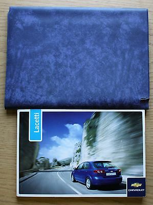 Chevrolet Lacetti Handbook Owners Manual Wallet 2004-2010 Pack # 8781