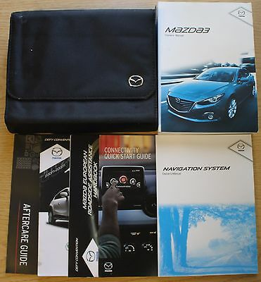 Mazda 3 Handbook Owners Manual Wallet 2013-2016 Navigation Pack 11364 !