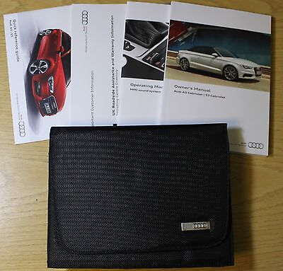 Audi A3 S3 Cabriolet Handbook Owners Manual Wallet 2014-2016 Pack 1803