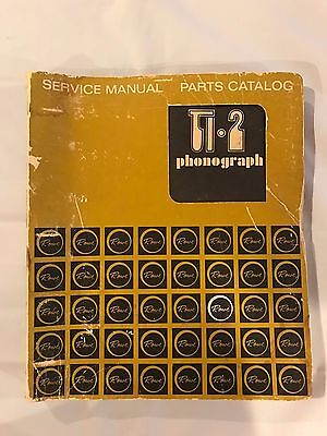 Rowe Ti-2 Phonograph Service Manual/Parts Catalog