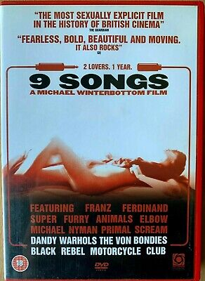 9 Songs DVD 2004 Notorious Sexually Explicit Sex Drama Nine with Margot Stilley