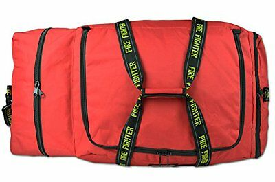 Fireman Premium 3XL Firefighter Rescue Step In Turnout Fire Gear Bag W/ Strap