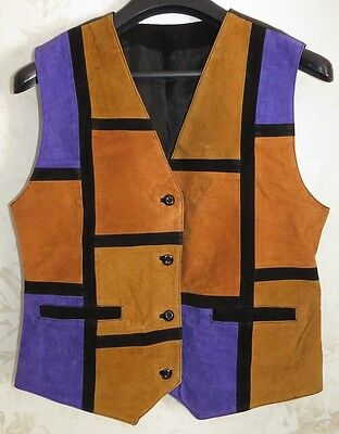 Gilet Smanicato Pelle Leather Old Size 44-46 Motor Cycle Casual