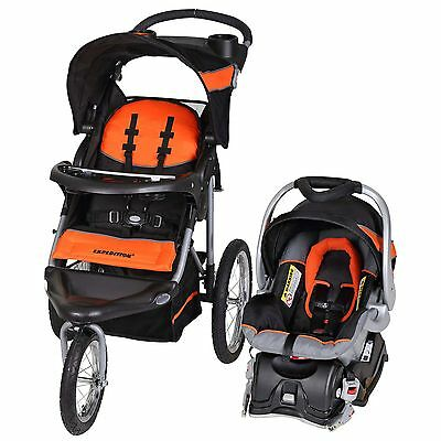 Baby Trend Expedition Travel System with Stroller & Car Seat, Millennium Orange