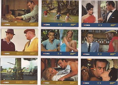 James Bond - Corgi RARE set of 50 Trading Cards