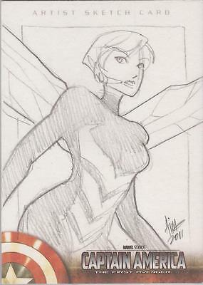 "Captain America The First Avenger Movie - Irma Ahmed ""Wasp"" Sketch Card"