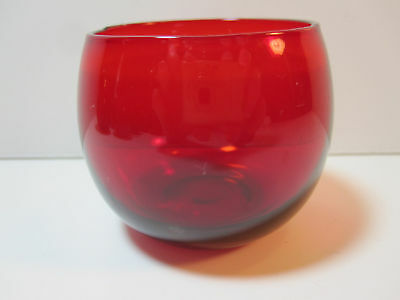 Paden City Ruby Roly Poly Tumblers (5) HTF