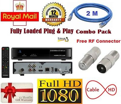 Zgemma  Lc Cable  Fully Loaded , Free Welcome Pack! Xmas Deals Email Me!!