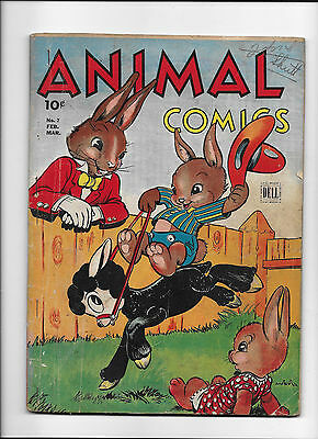 """Animal Comics #7  [1944 Fr-Gd]  """"the Adventures Of Uncle Wiggily"""""""