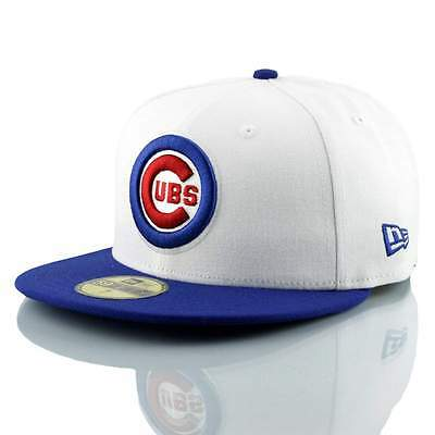 New Era Chicago Cubs White Top 59FIFTY Fitted MLB Cap