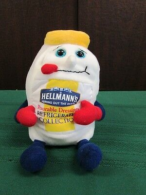 HELLMANNS MAYONAISSE POURABLE DRESSINGS JAR Plush Beanie Baby Advertising Toy 8""