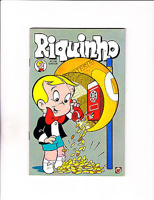 "Riquinho No 154-1980 - Brazilian Richie Rich  -""Pay Phone Payout Cover!  """