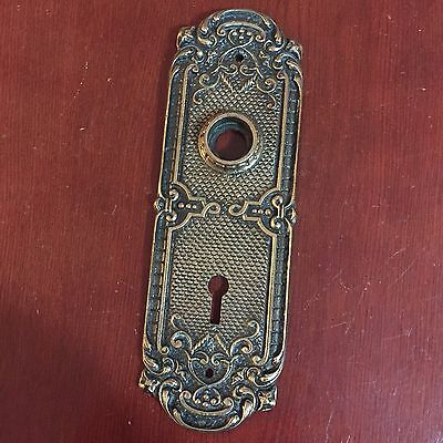 New Antique Victorian Style RHC Authon Cast Brass Very Ornate Backplate. #B