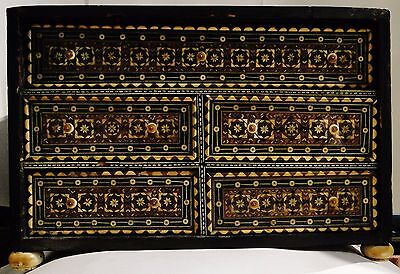 Museum Quality Indo Portugais Islamic Inlayed Box Drawer Chest 17-18Th C. Mughal