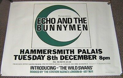 ECHO AND THE BUNNYMEN MINT TUE 8th DEC 1981 HAMMERSMITH PALAIS UK CONCERT POSTER