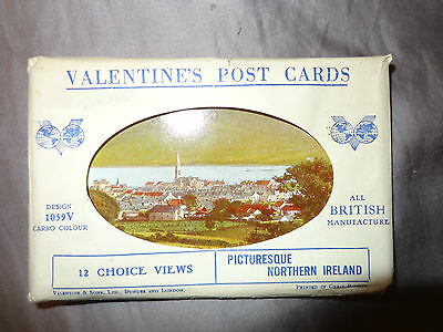 Valentines Postcard Views Of Picturesque Northern Ireland Pack 1G Set 12 Carbo