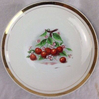 The National China Co. ELO Chery Blossom Plate Gold band Western Gem