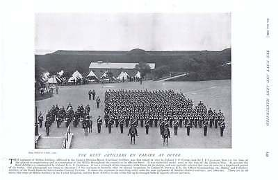 1896 Kent Artillery Dover Parade Natal Cadet Battalion On Parade In Durban