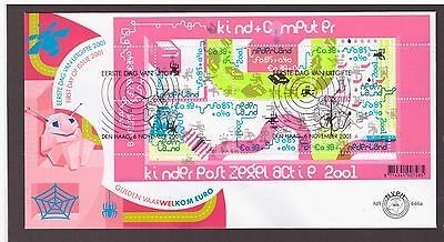 Netherlands 2001 Communication Children Computers  FDC cover