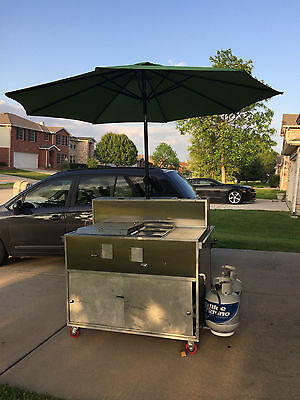 Push Cart For Hot Dogs, Tacos And Burgers