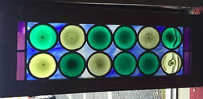 Stained glass window consisting of roundels